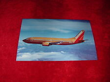 SWA Southwest Airlines Boeing 737-300 Vintage Aircraft Postcard~1986 Old Colors