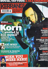 KORN / TYPE O NEGATIVE	Kerrang 	no.	961	Jun	28	2003