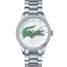 Lacoste 2000889 Victoria silver white green Women's Watch Stainless Steel NEW