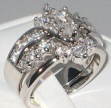 Marquise 3.86 CT. Cubic Zirconia Wedding Bridal Engagement Ring Set- SIZE 9