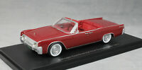 Neo Models Lincoln Continental 53A Convertible in Dark Red 1961 47050 1/43