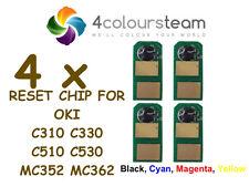 4x Toner Reset Chip (1set) PER OKI C310 C330 C331 C510 C530 MC352 MC362 C 310