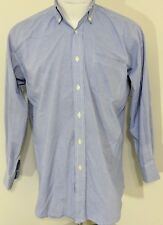 Robert Talbott Carmel 1 pocket long sleeve purple white checker dress shirt XL