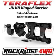 TeraFlex Jeep Wrangler JK Alpha HD Hinged Carrier & Adjustable Tire Mounting Kit