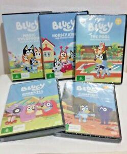 Bluey DVD 1 2 3 4 5 6 7 8 9 10 Sleepytime Pool Grannies Camping Asparagus Gecko