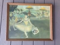 Edgar Degas Dancer With Bouquet 21x17 Wood Framed Vintage 1955 Art Print