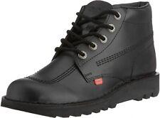 Kickers Kick Hi Boots Mens Boys Classic Boots Black School Shoes - Size UK 6 NIB