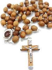 Wood Olive Rosary Soil Holy Jerusalem Beads Land Cross Necklace Catholic Prayer