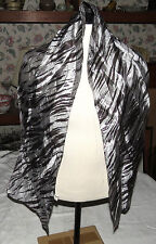 "Zazou Metallic-style Silvertone Fabric 59"" Long Scarf"