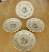 """Vintage Mikasa Country Charm FG 002 TENNESSEE Set of 4 SALAD PLATES 8"""" Excellent"""