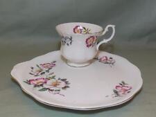 Richmond China Tea Cup & Buffet Plate TV Snack Pink Wild Roses Pattern Mismatch