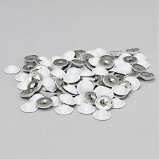 White Insulation Dome Caps, 12 Gauge, Aluminum, 200/Bag