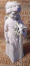 "Lighted Angel Figurine Statue Clay w/Beads Night Light House of LLoyd 11"" #1"