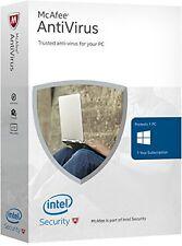 McAfee AntiVirus 2016 1PC 1 YR - Key Card