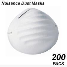 Bulk 200 Pack Facial Dust Masks - for Nuisance Dust Allergy Sufferers