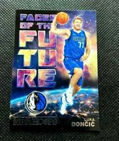 2018-19 Hoops Luka Doncic Faces of the Future Rookie Insert SP