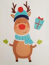 9 Pieces Reindeer Christmas Fridge Refrigerator Magnet Freezer Xmas Decoration