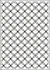 Crafts Too A4 Embossing Folder - CTA406 Fancy Lattice REDUCED CLEARANCE