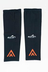 New 2017 Men's Borah Teamwear Rally Pro Cycling Knee Warmers, Black, Size XS
