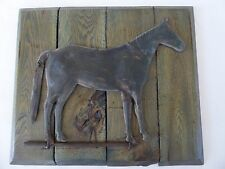 Antique / Vintage * Copper Horse Weathervane * Folk Art * Mounted Plaque