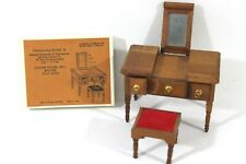 Reevesline Sheraton Dressing Table & Stool & Original Box Japan 1972 Dollhouse
