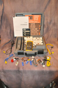 Fluke 51 II Thermometer, probes, case & accessories