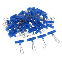 50Pcs Plastic Head Swivel with Hooked Snap Fishing Sinker Slide Weight Slide