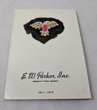 1974-1975 E.W. Parker Inc Jeweler Catalog Fine Jewelry Madison WI Wisconsin