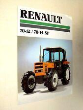 Prospectus Tracteur RENAULT 70 - 12 - 14  tractor Traktor Trattore Prospekt