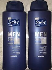 [2] Suave Men 3 in 1 Charcoal Shampoo Conditioner Bodywash - 28.oz  Fresh Clean