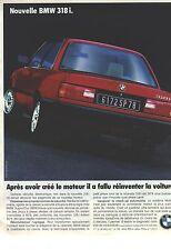 PUBLICITE ADVERTISING 1987  BMW   318 i