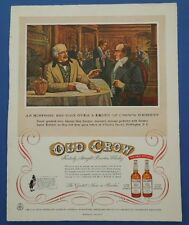 1955 Vintage Holiday Magazine Ad The Old Crow Distillery With Zenith Radio Back