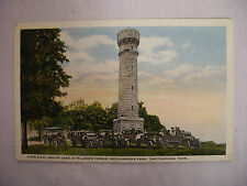VINTAGE LINEN POSTCARD DIXIE SIGHT SEEING CARS AT WILDERS TOWER TENNESSEE 1918