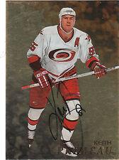 1998/9 BAP Be A Player Gold Autograph card Keith Primeau Hurricanes