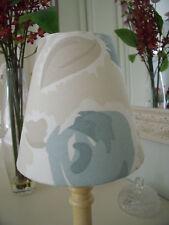 Handmade Candle Clip Lampshade Laura Ashley Emma fabric Duck Egg Blue