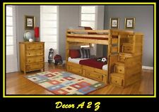 Wrangle Hill Full Over Full Bunk Bed with Under-Bed Storage #460096