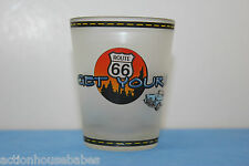 ROUTE 66    GET YOUR KICKS     SHOT GLASS