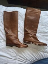 VINTAGE JOAN & DAVID EQUESTRIAN STYLE LEATHER RIDING BOOTS MADE IN ITALY SZ 5.5