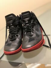 2010 NIKE ZOOM HYPERFUSE BLACK RED Mens 8 Basketball Sneakers 407622 007