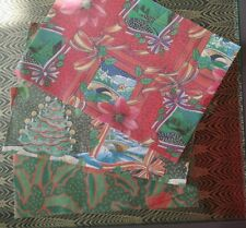Vintage Christmas Wrapping Paper - 13 Sheets of Retro Kitsch Xmas Wrap 3 Designs