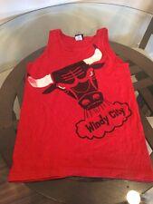 Chicago Bulls Adidas Tank Top Sleeveless Shirt Small Good Condition