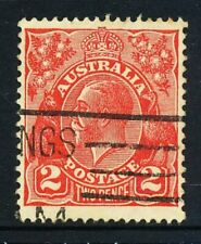 Australian 2d Red, King George V, C of A wmk, used