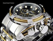 Invicta 52MM Bolt ZEUS Swiss Quartz Black Dial GoldTone Cable Silver Watch 23910