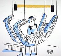 [ Humor - Presse ] Guy Valls - Pendel - Zeichnung Original Unterzeichnet