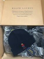 Polo Ralph Lauren Unisex Bear Design Wool Winter Skulllie Cap Beanie Hat One Siz