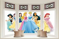 Huge 3D Bay Window Princess View Wall Stickers Film Mural Art Decal Wallpaper 94