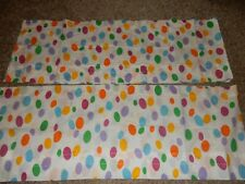 Ln Set of 2 84x15 Vintage Barney Dinosaur Polka Dot Window Valances (Fabric)