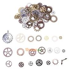 100pcs Antique Vintage Gears Pendant Steampunk Charms Necklace Jewelry Findings