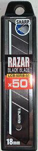 Tajima Razar Black 18 mm , Box mit 50, 1 Stück, TAJ-10312