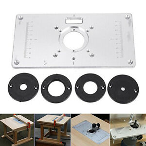 Aluminum Router Table Insert Plate 235 x 120 x 8mm With Ring For Woodworkiny3